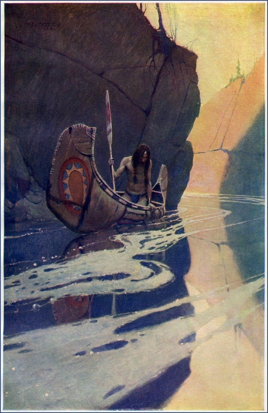 N. C. Wyeth ~ Frank E. Schoonover / CANOES