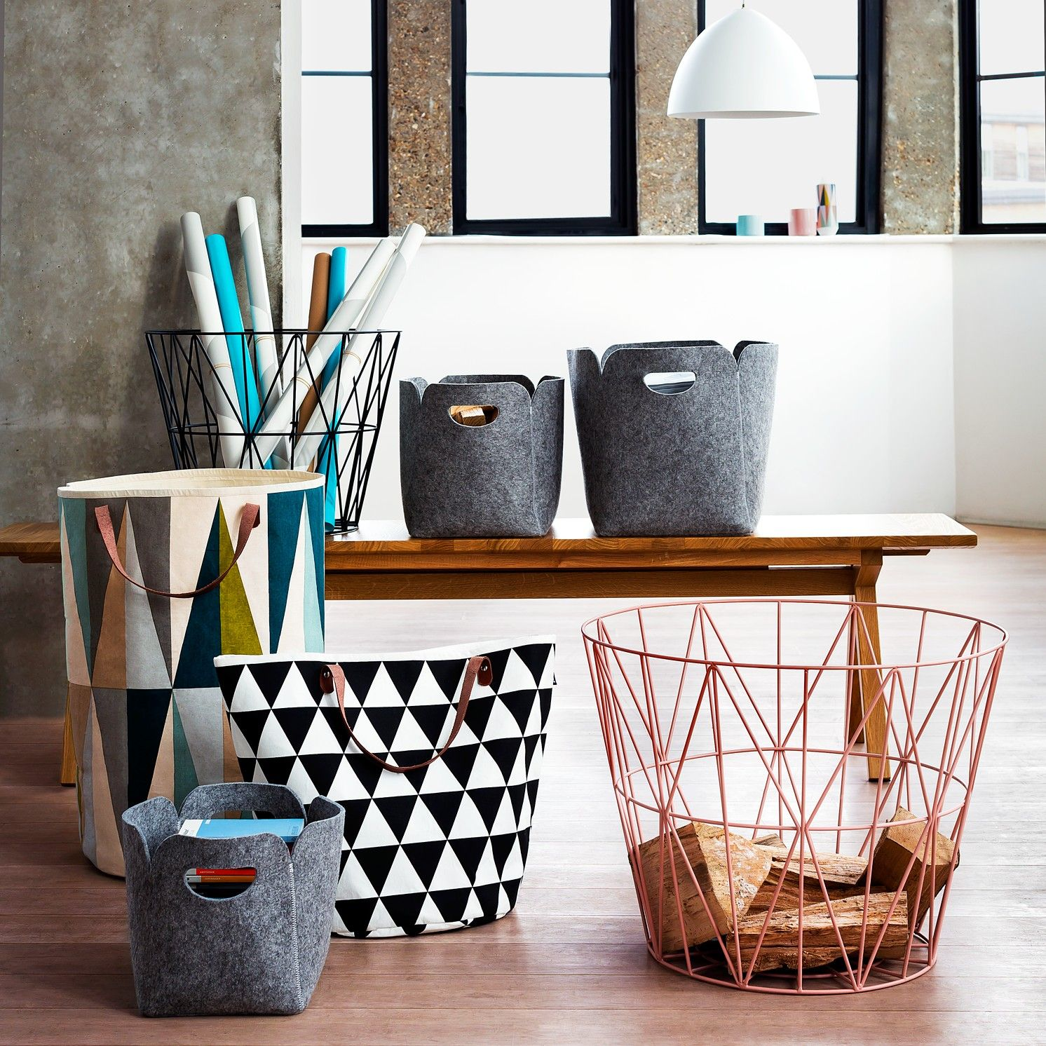 Ferm LIVING Wire Storage Basket  Medium  Roseferm LIVING Wire Storage Basket  Medium  Rose   Home   Decor  . Ferm Living Shelf Brackets. Home Design Ideas