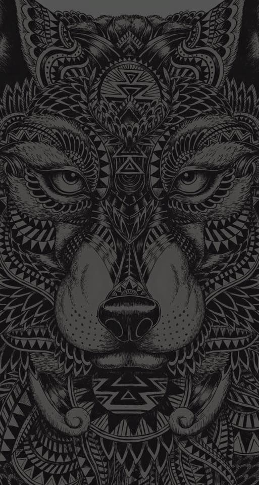 Amazing Wolf Motive Dark Wallpaper Iphone Wolf Wallpaper Phone Art