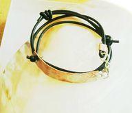 Adjustable Boho Rustic Bracelet Leather Wrap Copper Painted Horse Unisex, $45