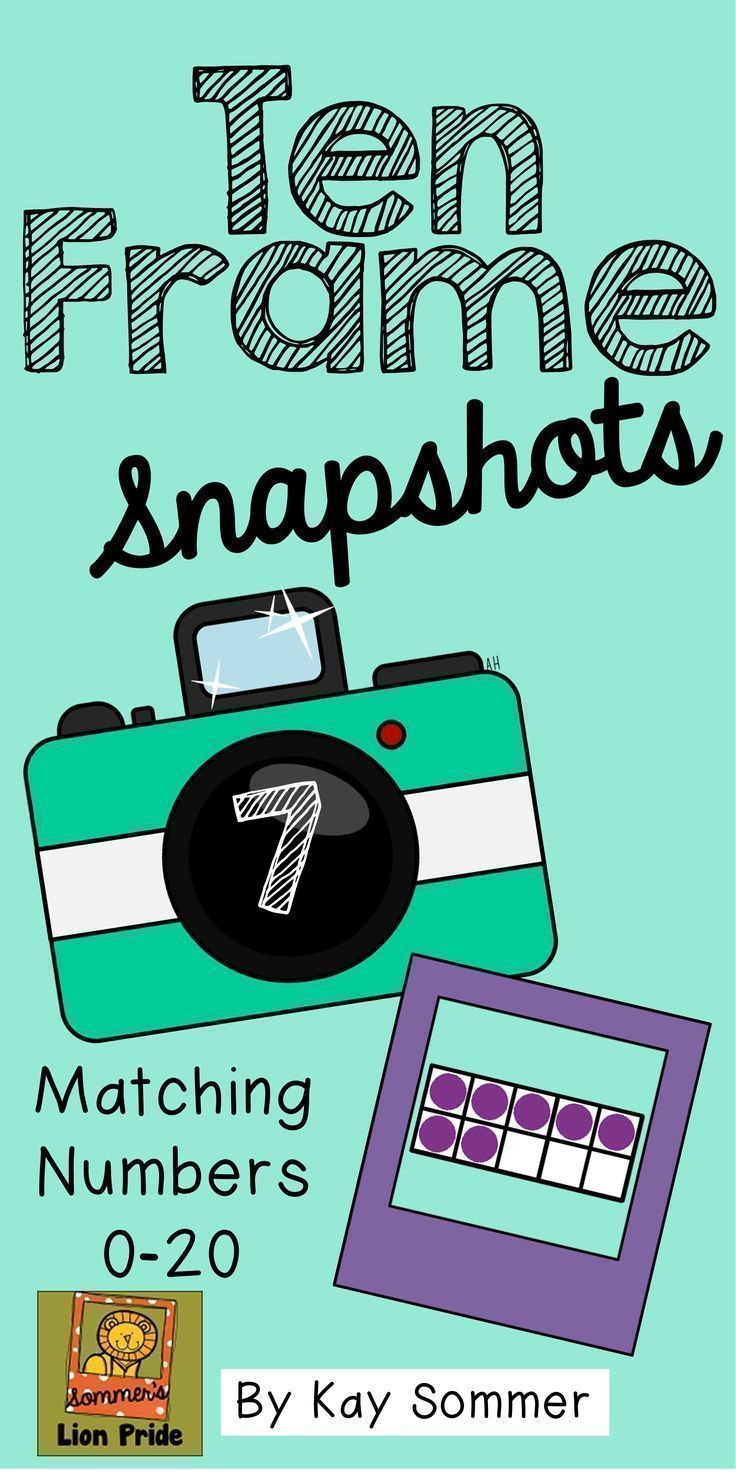 Ten Frame Snapshots - Numbers 0-20 - students match the camera ...