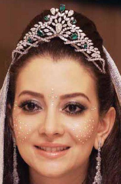 Tiara Mania: Emerald & Diamond Tiara worn by Lalla Oum of Morocco in 2014