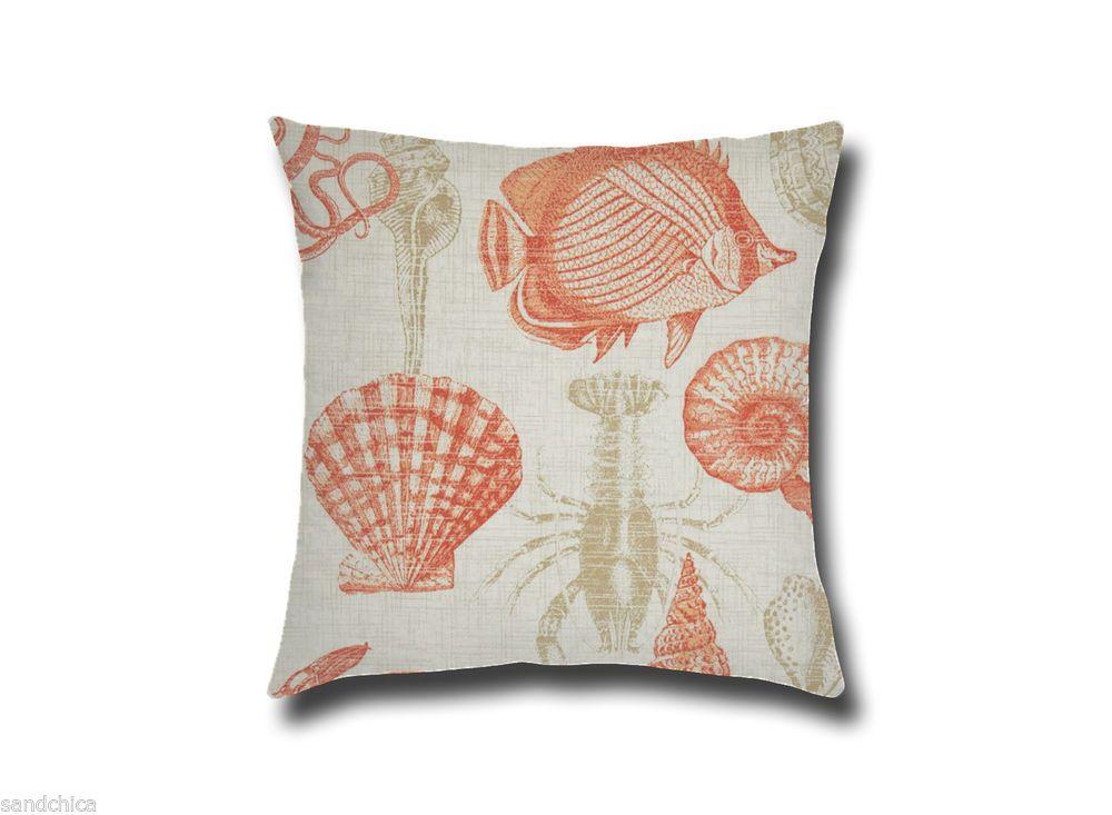 Pillow Cushion Cover/Shell Sham 18 x 18 Decorative Outdoor Throw Pillow