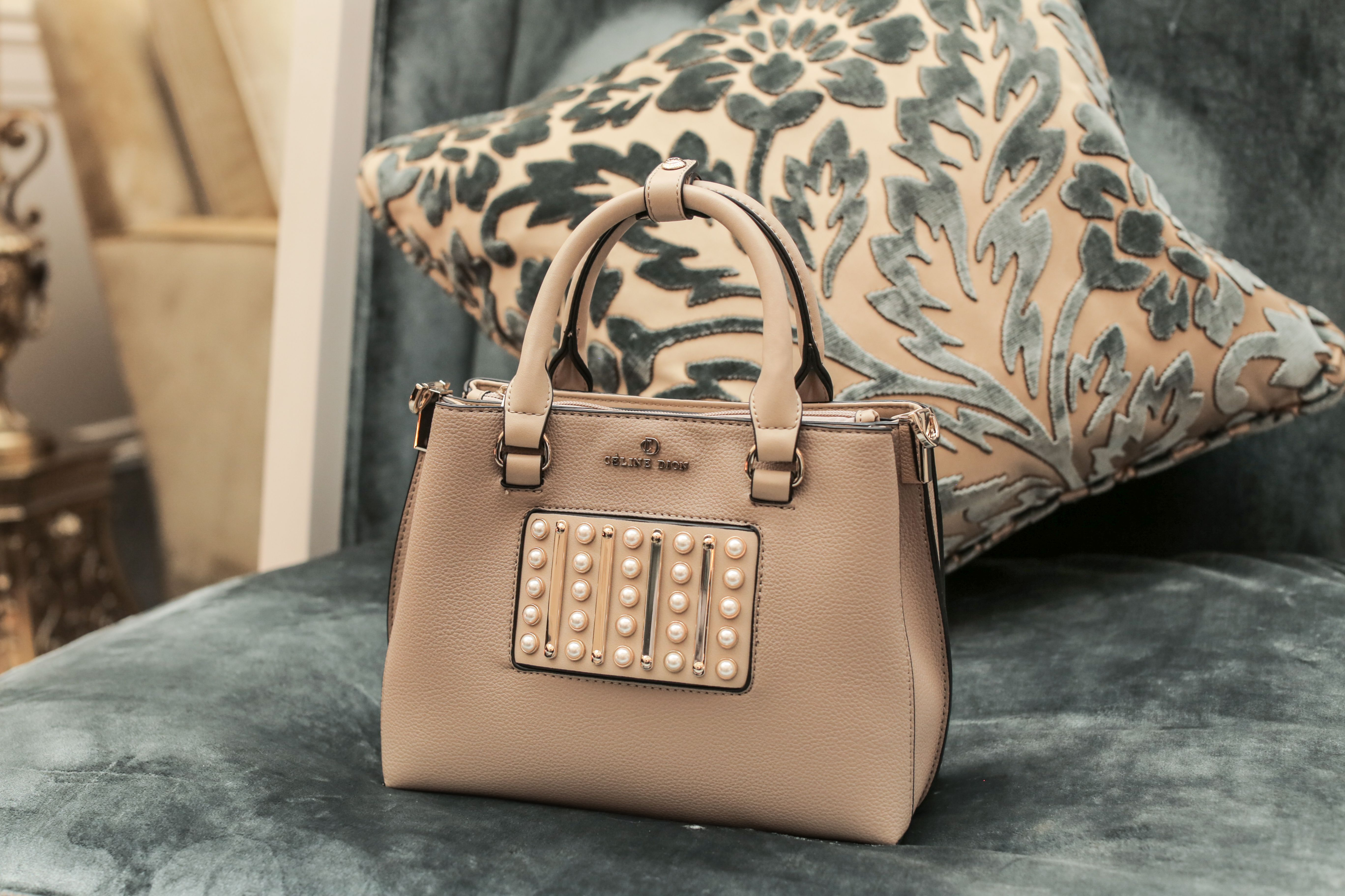 705e28420f2b MAESTRO - Satchel with front metal vertical bar decoration   Céline Dion  Collection