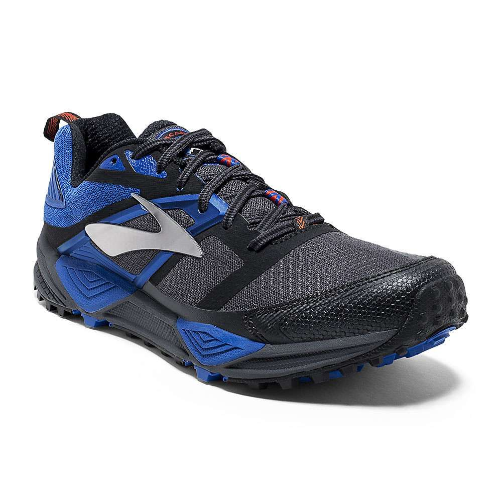 997c0e80d1e Brooks Men s Cascadia 12 Trail Running Shoe - 11 - Anthracite   Electric  Blue   Black