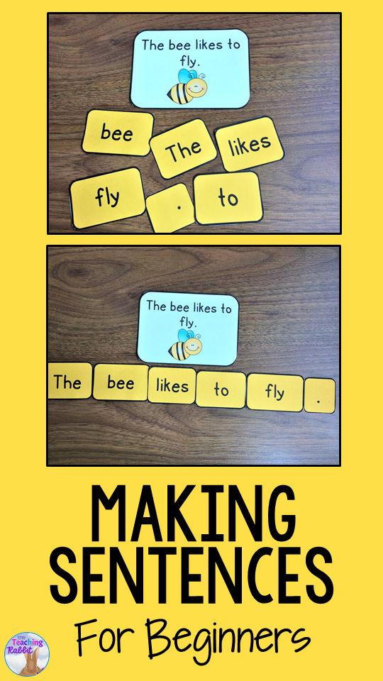 Making Sentences with Beginners – The Teaching Rabbit