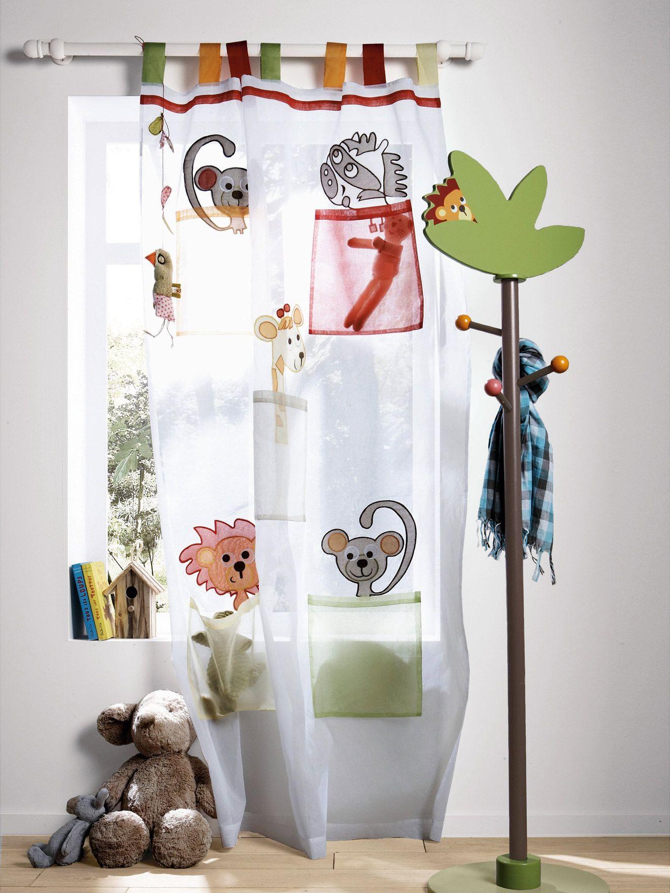 Rideau organdi animaux thème l\'as-tu vu ?, #chambre Bébé ...