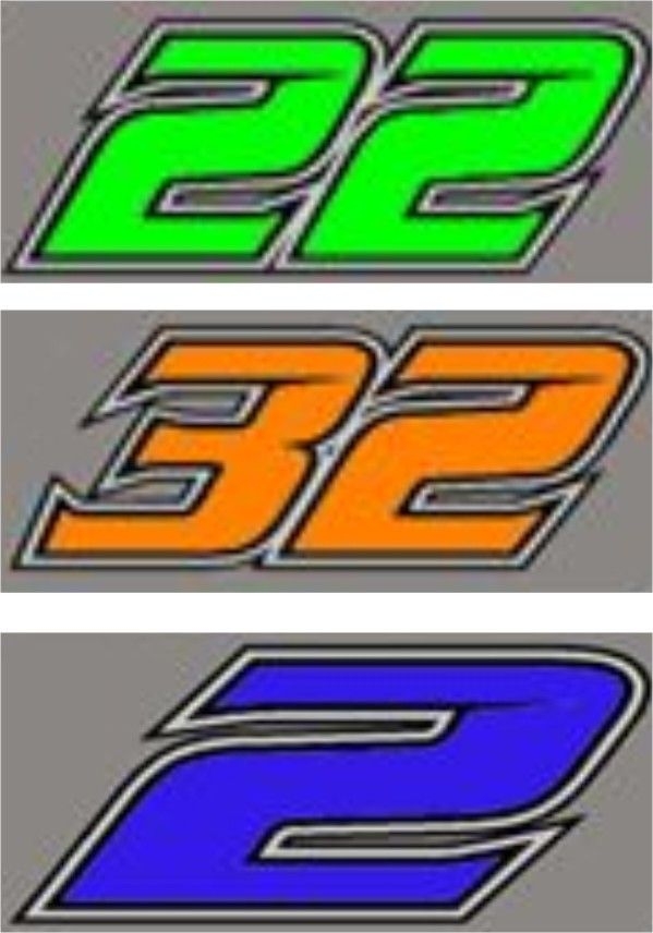 Car Racing Number Font | nascar | Pinterest | Number fonts ...