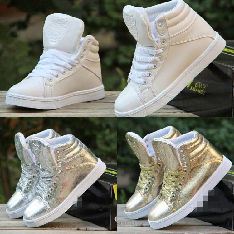 Encontrar Más Moda Mujer Sneakers Información acerca de Moda marca con cuña oculta plataforma mujeres de fondo plano zapatos de hip hop ladies High top de la mujer zapatillas de deporte altas nuevos entrenadores SDGSG4, alta calidad Moda Mujer Sneakers de william's shop1987 en Aliexpress.com