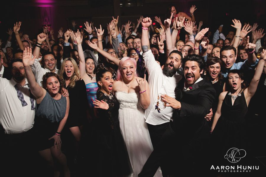 Riviera Palm Springs Wedding, Destination Wedding Photographer.  Rock and Roll themed wedding.  Reception party shot!