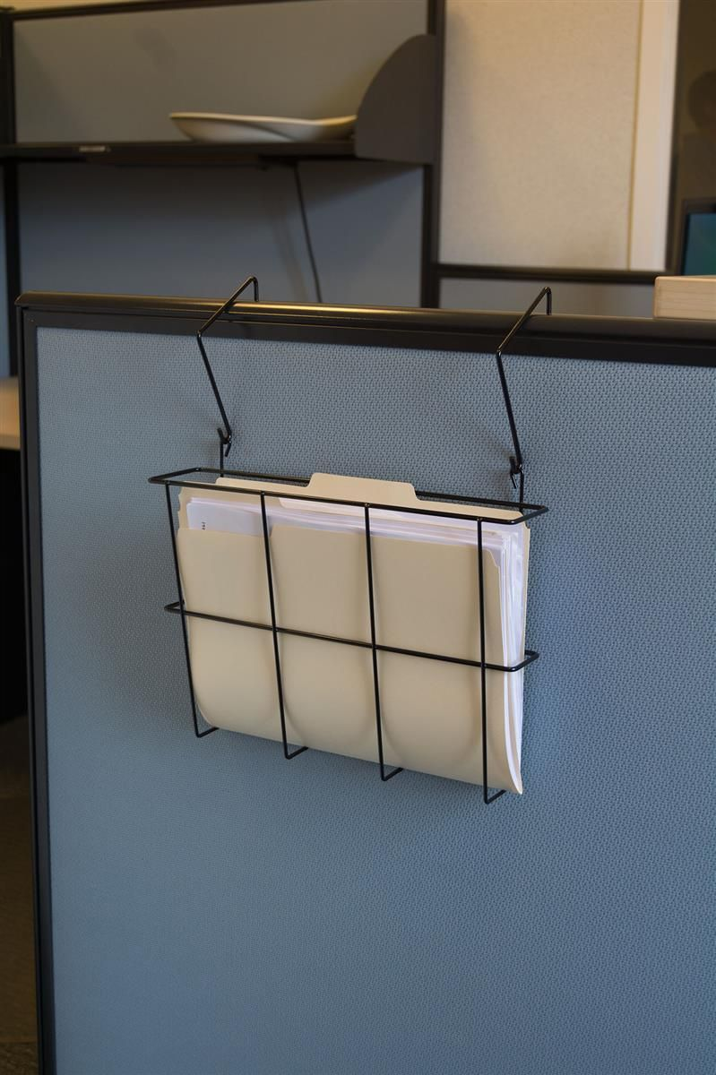 13 W Single Pocket Steel Wire File Holder For Hanging Or