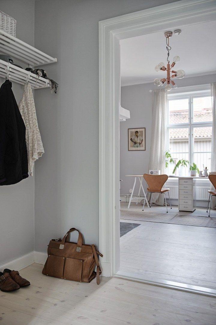 Cocina serena de aire country Scandinavian, Interiors and Living rooms