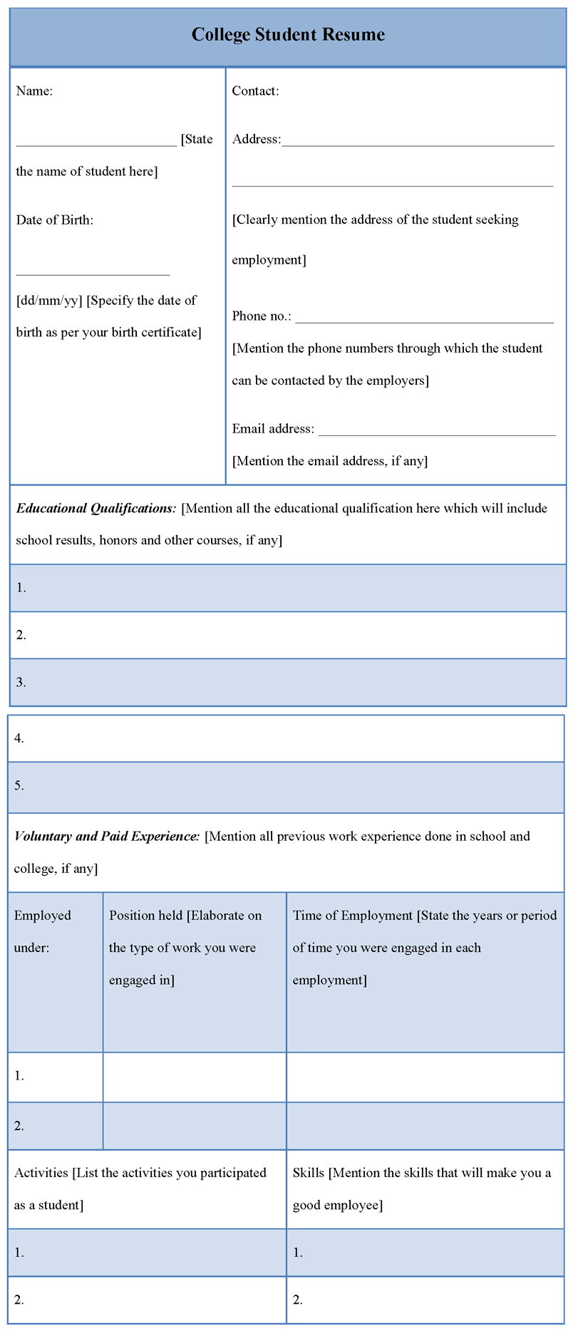 college student resume examples resume builder resume templates httpwwwjobresume - Student Resume Builder Free
