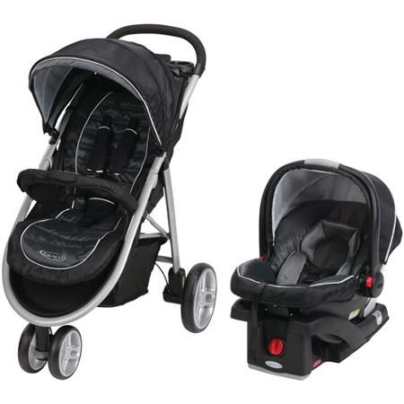 Graco Aire3 Click Connect 3 Wheel Stroller Travel System Gotham