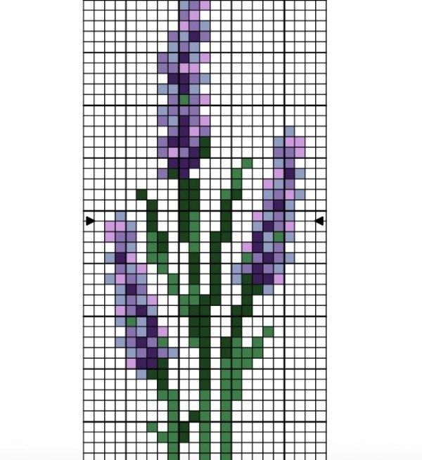 Photo of Lavender Cross Stitch Patterns