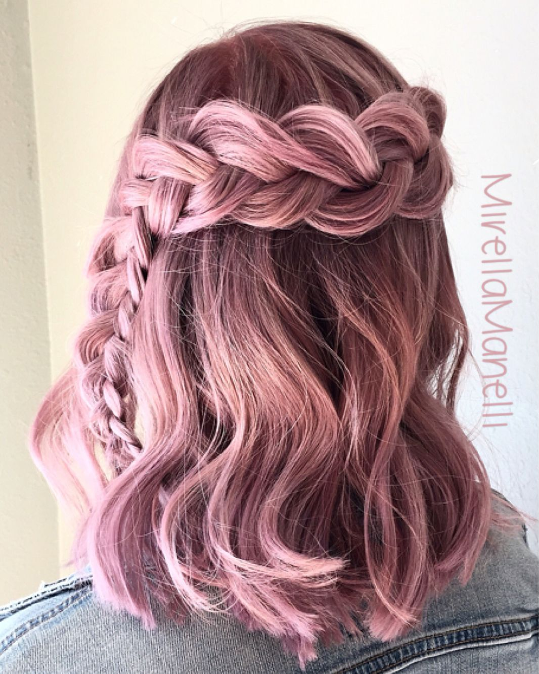 dusty violet pink braid rose bonbon cheveux rose coiffure rose et cheveux pastel. Black Bedroom Furniture Sets. Home Design Ideas