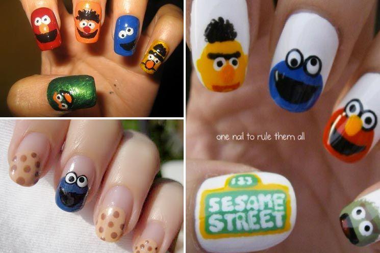 This Sesame Street Nail Art Is Too Creative I Sesame Street
