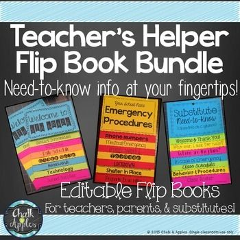 These flip books keep important information in an easy to find format class policies  for back school emergency procedures and substitute also book editable flipbook tpt misc rh pinterest