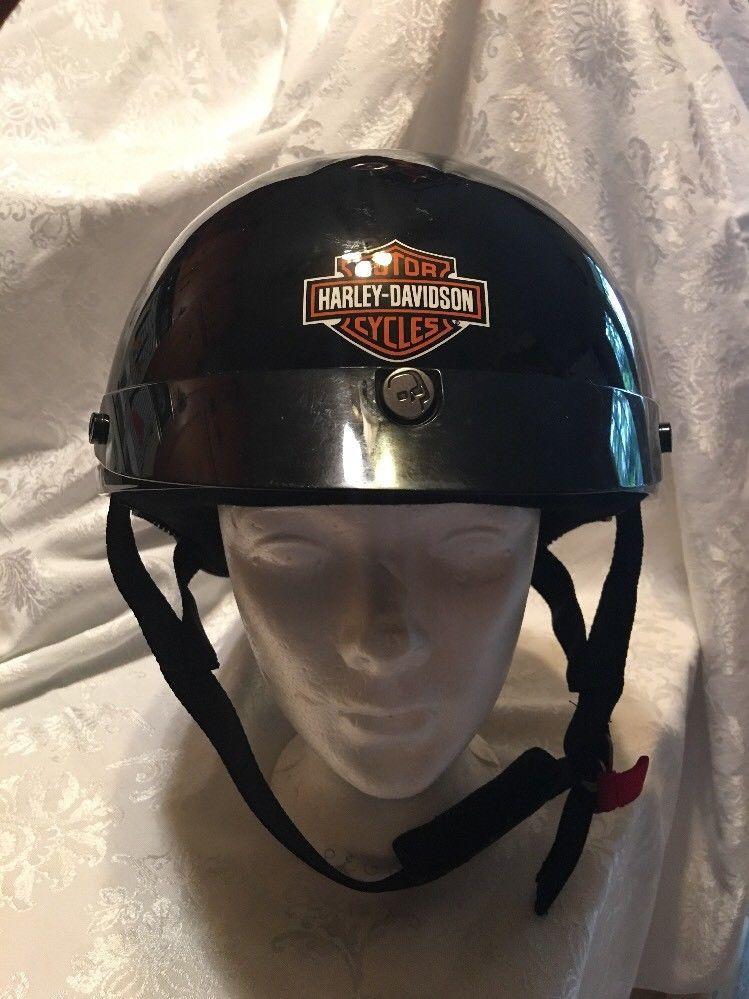 Harley Davidson Half Helmet HD2 DOT Size L Black Gloss