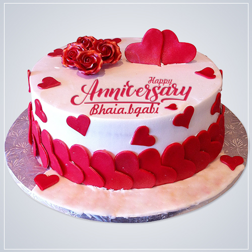 Pin by Sk mojibur on iffat in 2020 Anniversary cake with