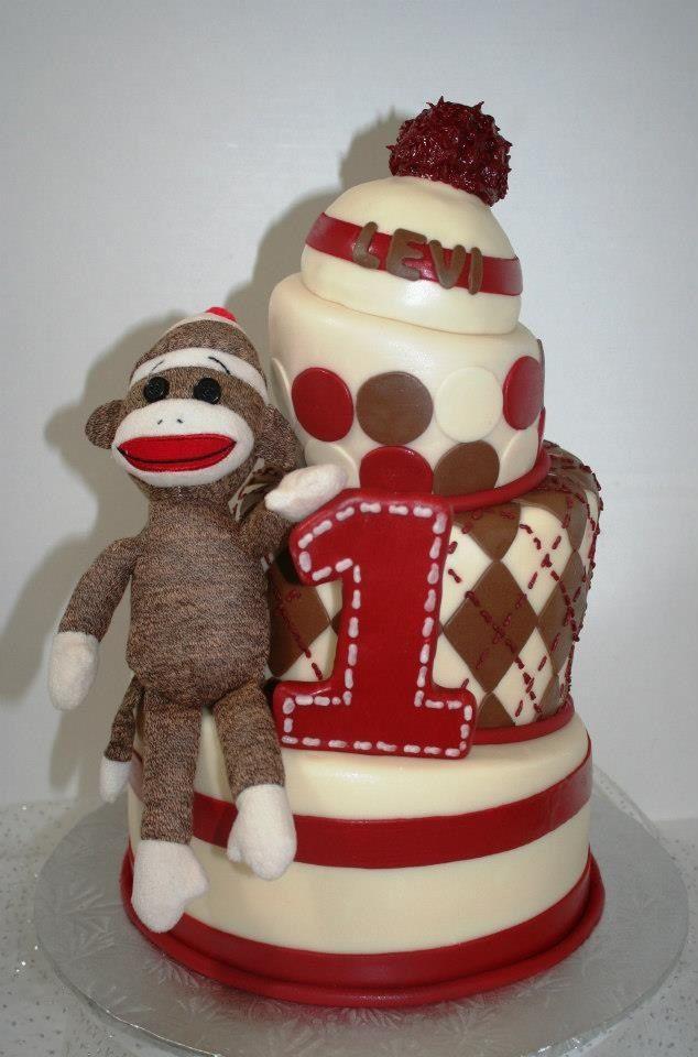 43 Trendy Ideas Birthday Cake 1st Boy Sock Monkeys Sock Monkey