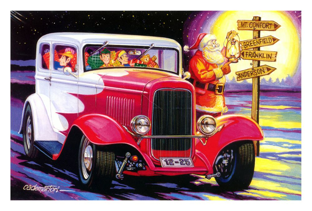 Hot Rods Christmas Cards - X-679 - One (1) Pack of 10 Cards ...