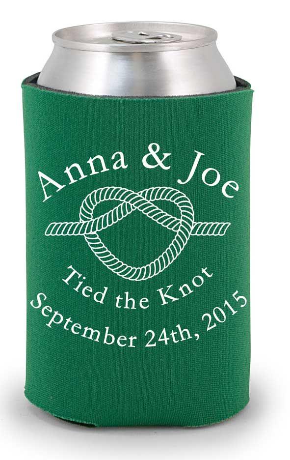 Tied the Knot Wedding Favor Koozies, wedding koozies, favor koozies, custom koozies, #koozies http://www.expressimprint.com/Custom/custom-koozies