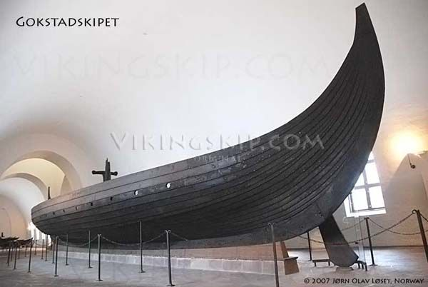 Gokstadskipet - The Gokstad Longship - Gokstadskeppet - Viking ships and norse wooden boats by Jørn Olav Løset, Norway - Vikingskip.com
