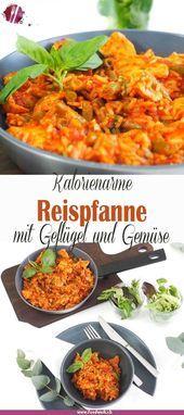 Kalorienarme Reispfanne mit Hühnchenbrust Kalorienarme Reispfanne mit Hühnchenbrust