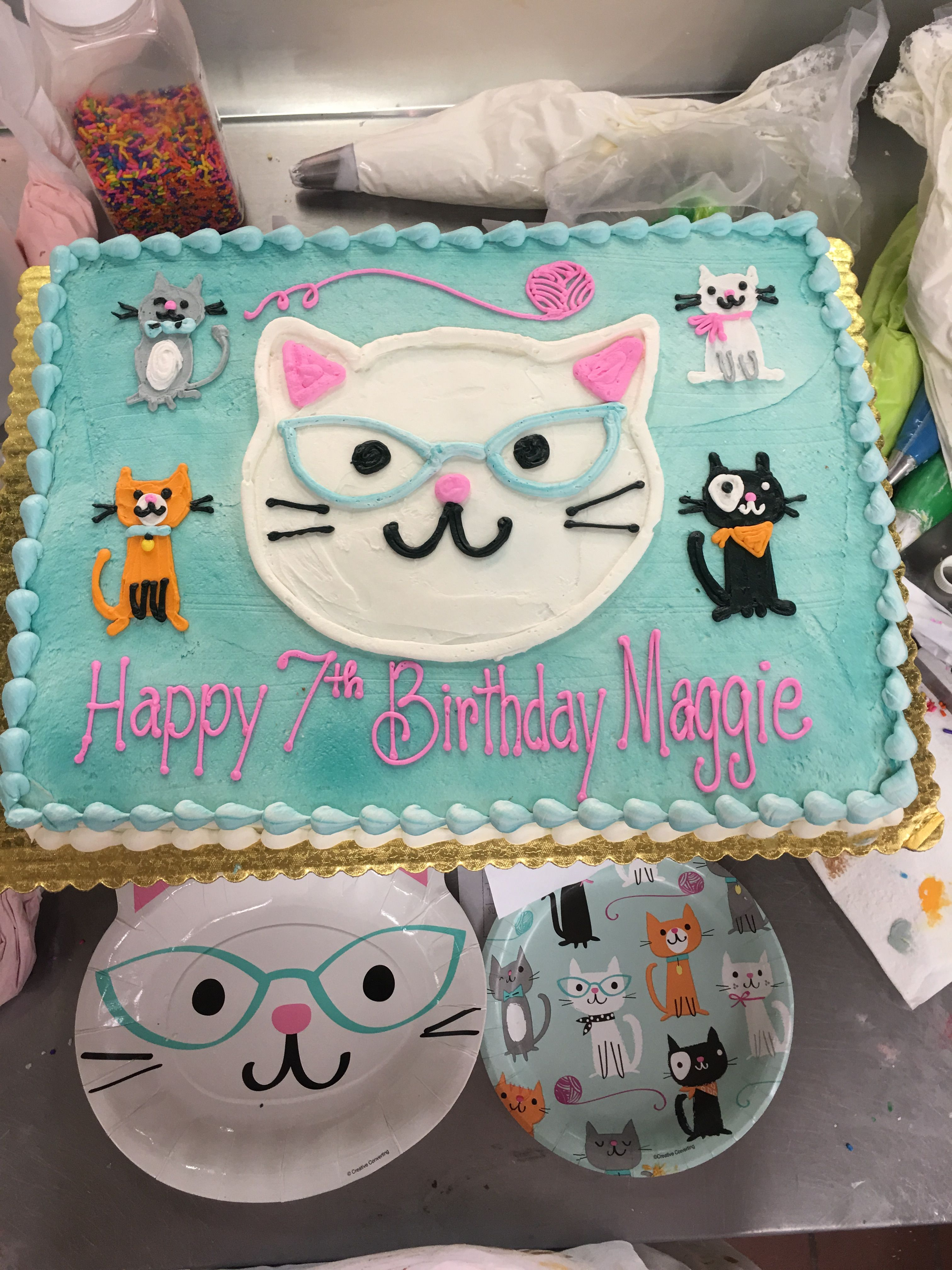 Cats Meow Edible Party Cake Image Topper Frosting Icing Sheet
