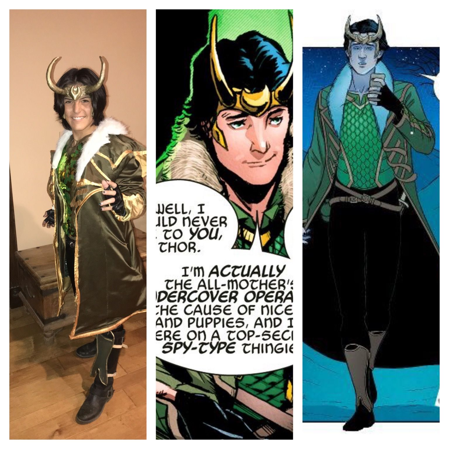 Agent Of Asgard Young Avengers Loki Cosplay Coat And All I Made The Coat A Bit Big Loki Cosplay Young Avengers Loki