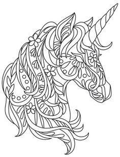 Bohemian Unicorn Design Uth13393 From Urbanthreads Com Unicorn Coloring Pages Coloring Pages Quilling Patterns