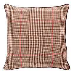 F Home Prince Of Wales Check Cushion