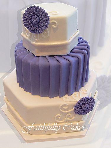 Hexagon Round Pleated Fondant In 2019 Birthday Cakes
