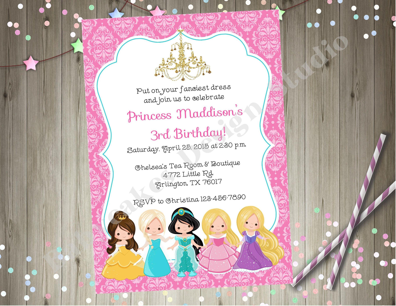 Tea Party Invitations Rapunzel 25 Rapunzel Tea Pot Invitations birthday invitations girls birthday Tea Pot new invitations