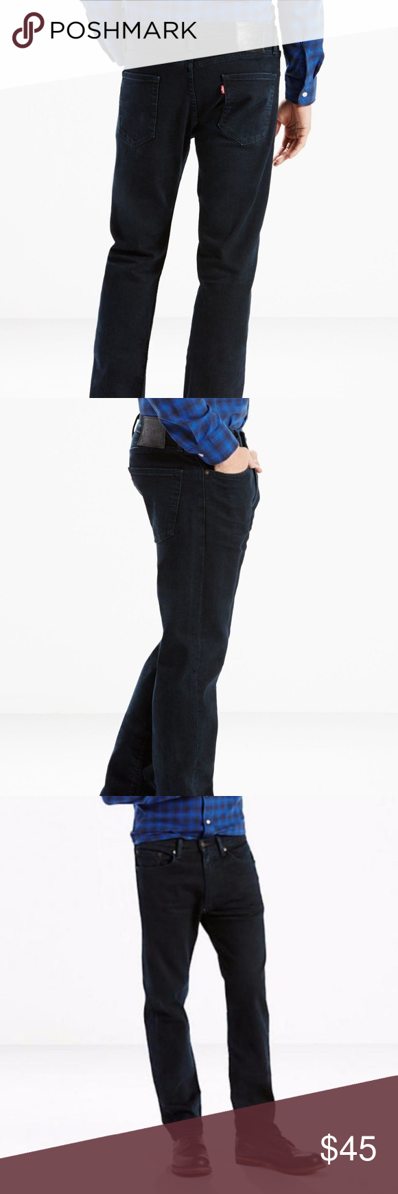 13b30c0f7c5 Levi's 505 Jeans 34 x 30 Regular Stretch Dark New New with tags Levi's 505  regular fit stretch dark blue wash men's jeans tag size W 34 x L 30.
