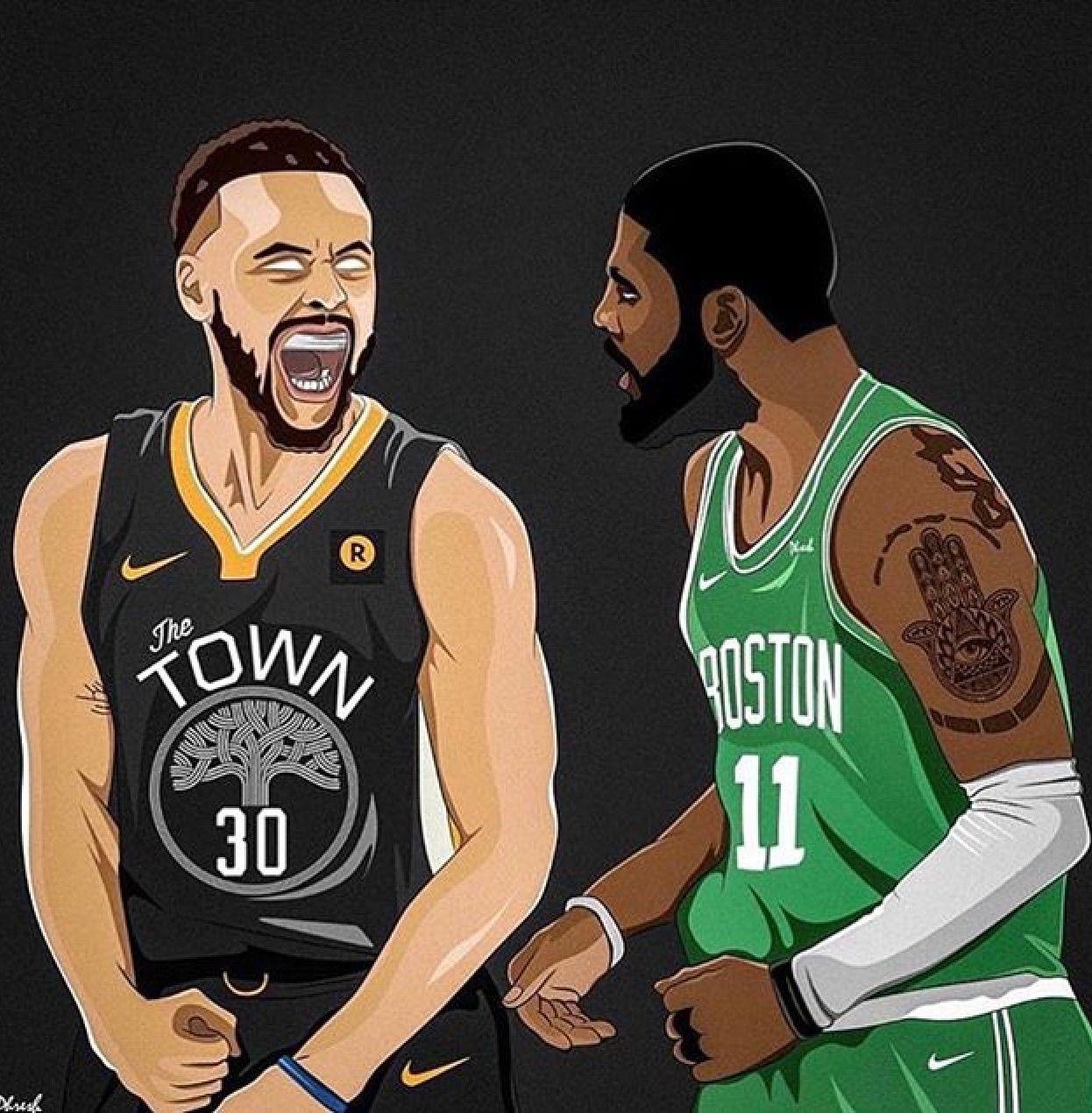 Cartoon Kyrie Irving Boston
