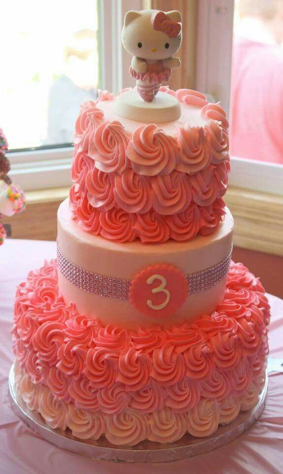 3 Tier Birthday Cake Hello Kitty 35th Pink