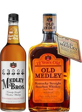 Caskers Selection Medley 4 Year Old Old Medley 12 Year Old Kentucky Straight Bourbon Whiskey Whiskey Bourbon Whiskey Kentucky Straight Bourbon Whiskey