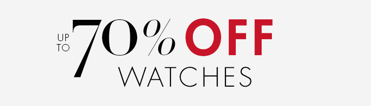 Up to 70% Off Watches