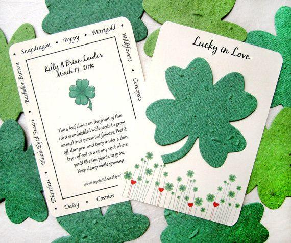 He encontrado este interesante anuncio de Etsy en https://www.etsy.com/es/listing/90903601/25-lucky-in-love-clover-wedding-favors