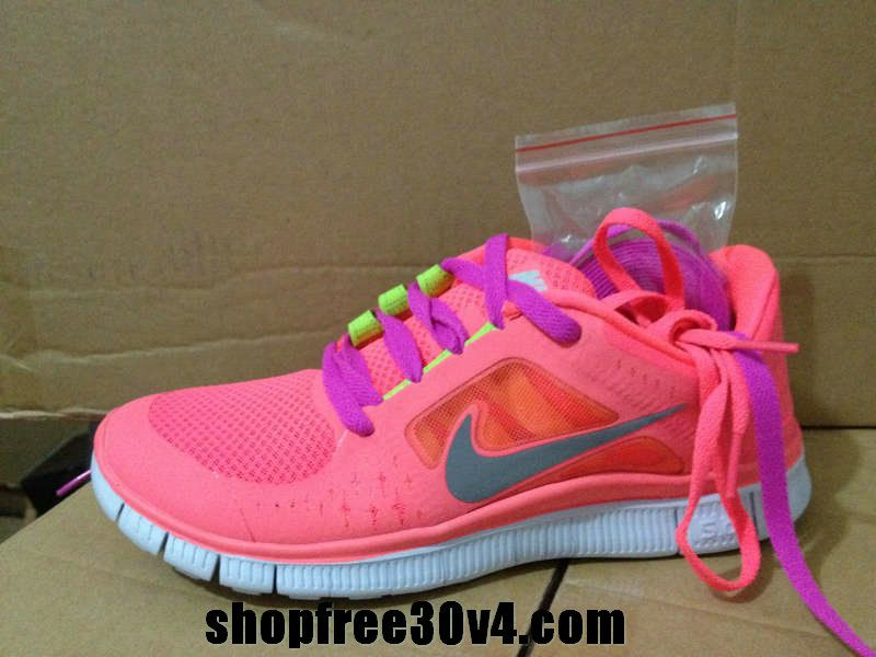 buy online 62b84 d3ddb Womens Nike Free Run 3 Hot Punch Reflective Silver Sol Volt Rose Lace Shoes