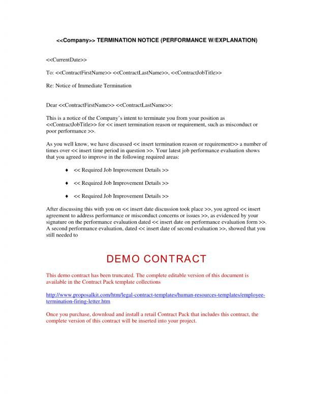 Job Performance Evaluation Form Templates Employee Termination Template  Template  Pinterest  Template And .