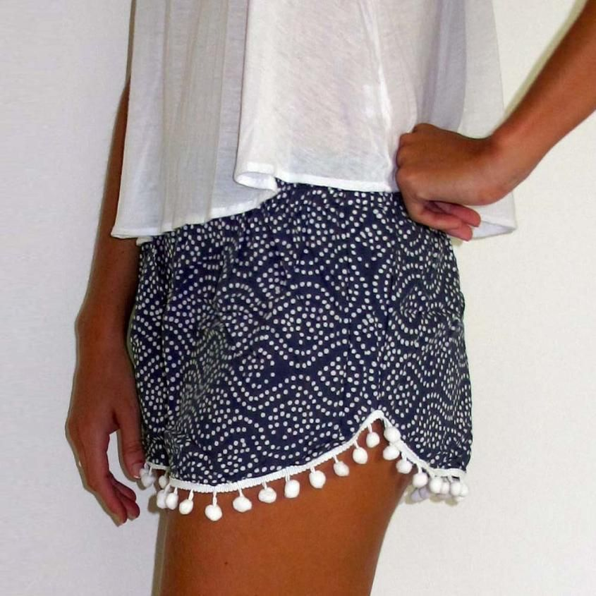 High Waist Knitted Shorts | My Style | Pinterest | Elastic waist ...