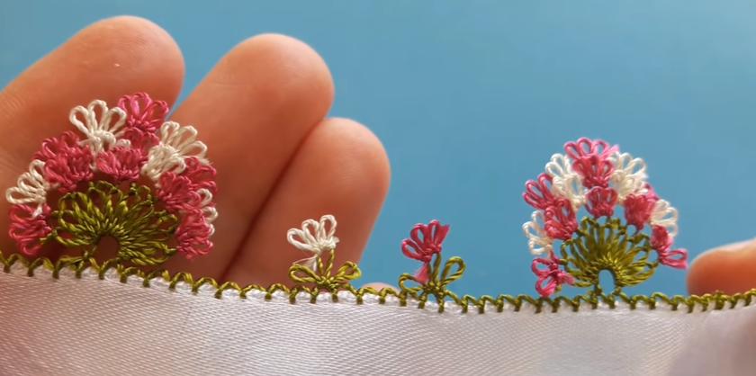 İğne Oyası Üzeri Pırpırlı Badem Modeli Yapılışı Türkçe Videolu