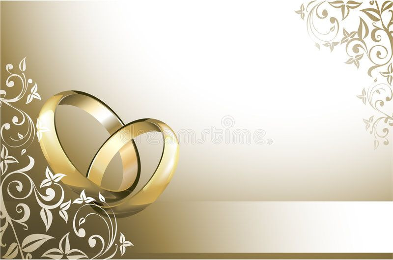 Photo About Wedding Card With Wedding Rings Illustration Of