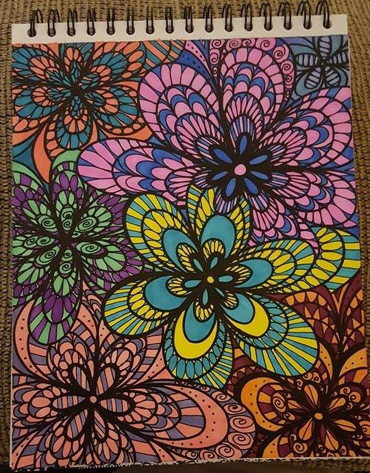 Ashlee LaRoche Is A Coloring Pro This One Of Her Many Amazing Submissions From Colorful Flower Volume