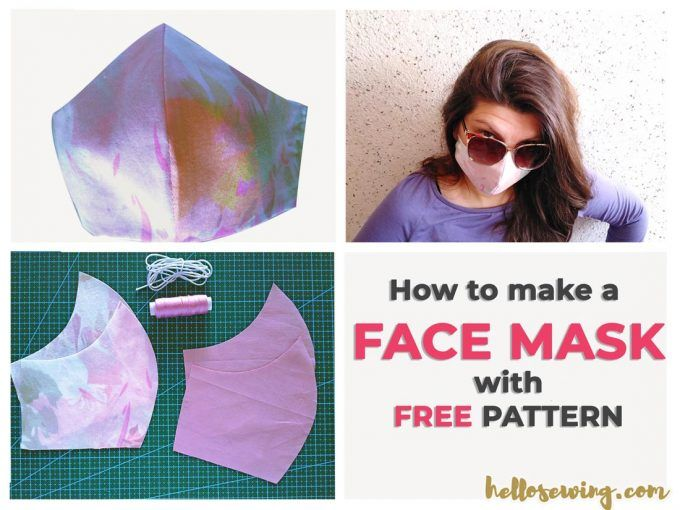 Face Mask Pattern (FREE) How to Make Diy Mouth Mask in