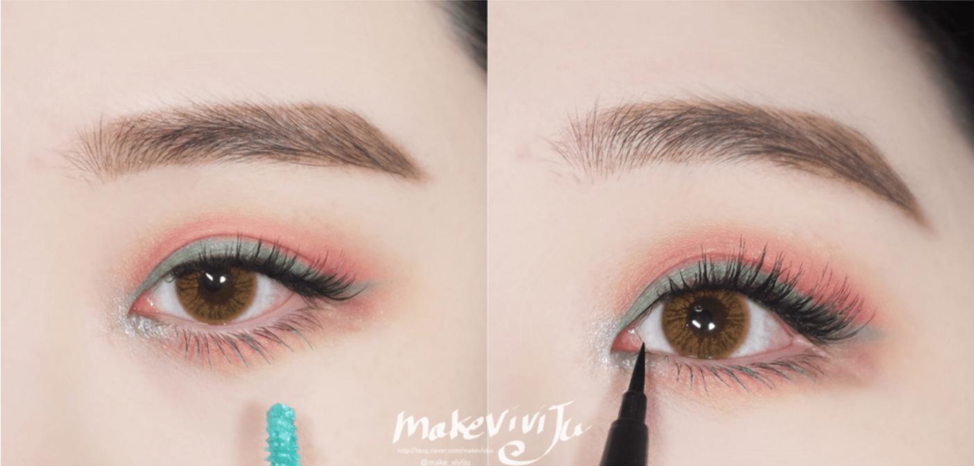 Sunmi S Teal Smokey Eye In Gashina Sunmi Gashina Music Video Makeup Sunmi Makeup Kpop Idol Makeup Sunmi Blue Ey Blue Eyeshadow Music Video Makeup Blue Makeup