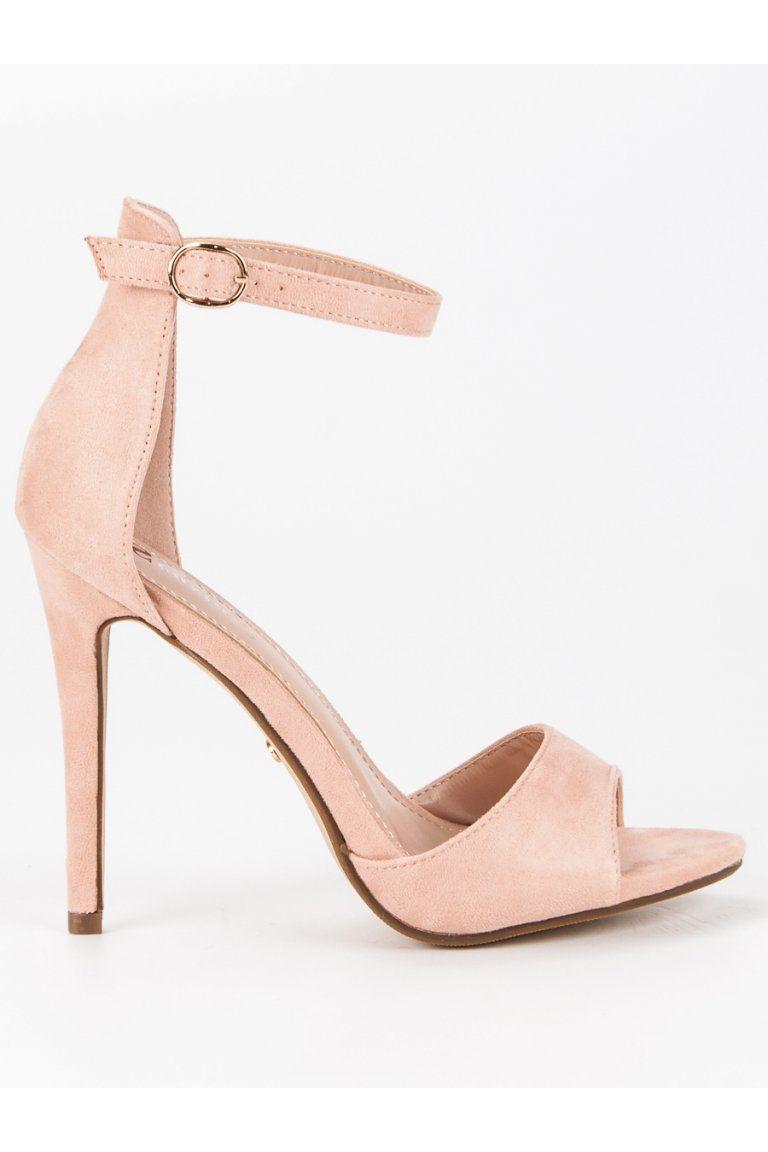 d2e4c30c1dcb Ružové sandále na podpätku Seastar